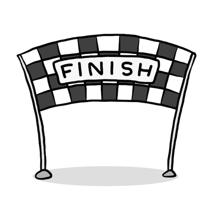 In Line Finishing : Finish line clip art free cliparts